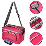 blue--net Electric Heating Insulation Lunch Boxes, Car Heatable Food Insulation Bag Portable Warmer Large Capacity Lunch Bag Outdoor Picnic Bag for Grocery/Camping/Car, 4000 ml