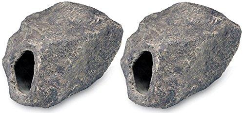 - Underwater Galleries Ceramic Cichlid Stones (Large - Toehold, 2 Pack)
