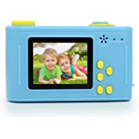 Eachbid Kids Digital Camera Video Recorder HD 1080P Children Camera 1.5 Inch Screen 5.0MP Toy Camera with USB Cable for Boys Girls Birthday (Yellow&Blue)
