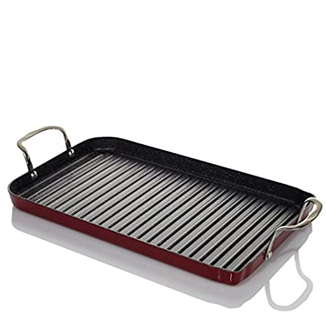 Amazoncom Curtis Stone DuraPan Nonstick DoubleBurner Grill Pan