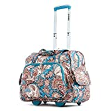 Olympia Deluxe Fashion Rolling Overnighter, Duffel Bag in Paisley