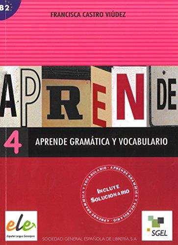 Aprende gramatica y vocabulario 4 (Bk. 4) (Spanish Edition) [Francisca Castro - Pilar Diaz] (Tapa Blanda)
