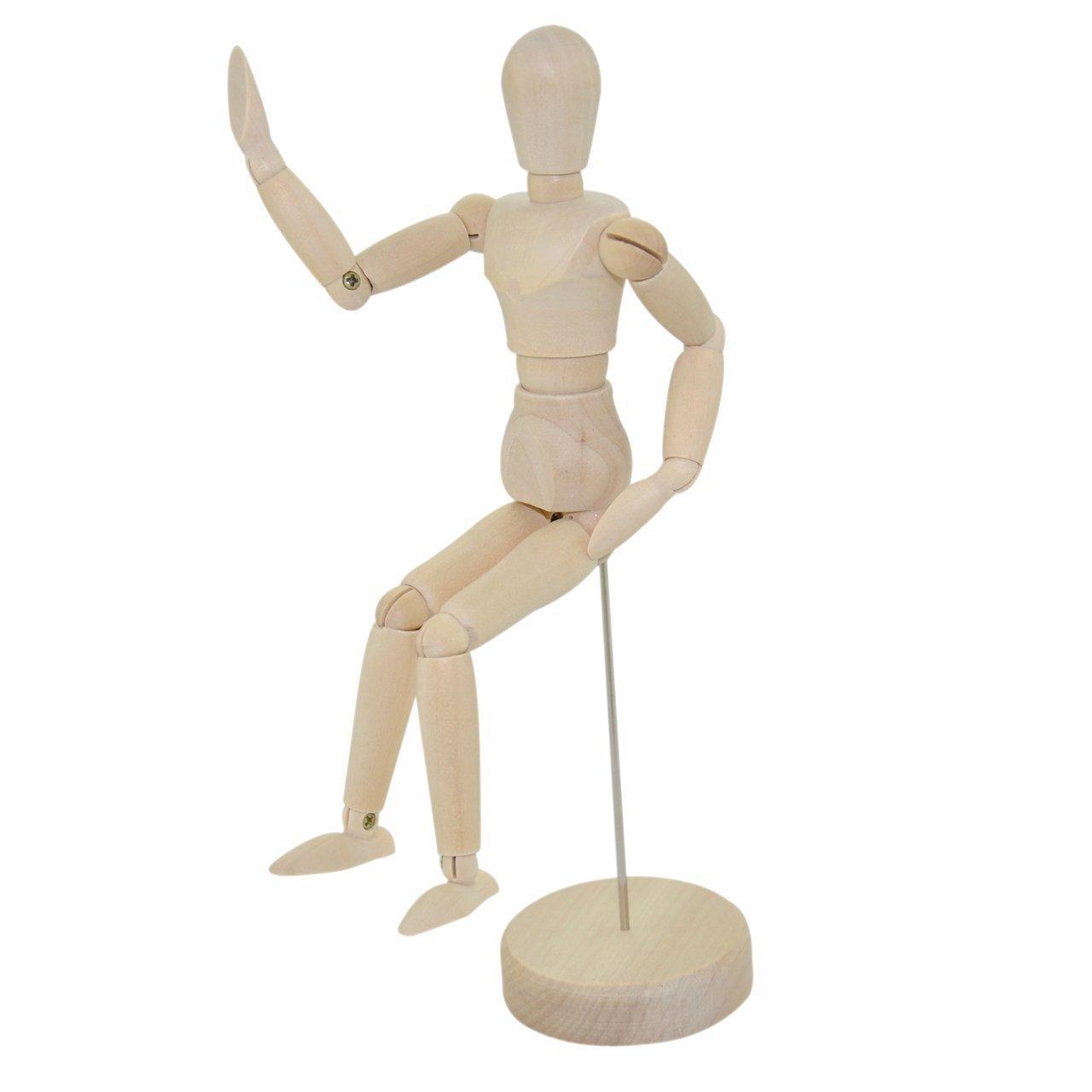 Wooden Male Manikin -- Sectioned Full Body Artist Mannequin -- Yazycraft 4336946254