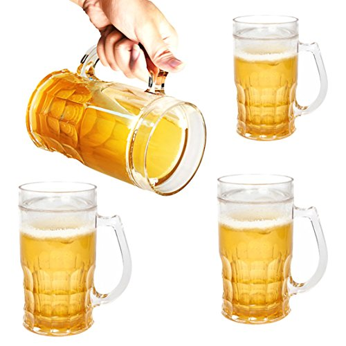[Set of 4 Novelty Beer Mug - Holds 13 oz, Insulated Plastic, Chillable, Beer Filled Illusion (Silly)] (Beer Novelty)