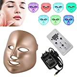 LED Mask, 7 Colors Led Photon Face Mask,LED Mask,Acne Spot Wrinkle Whitening Anti-Aging Rejuvenation Machine Spa Device,Acne, Spots, Blackhead, Skin Blemishes SPA Women