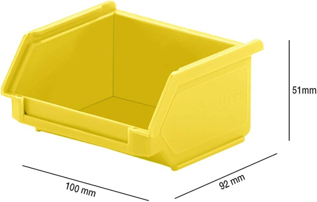 PP Made in Germany L 92 x B 100 x H 50 mm Aufbewahrung Polypropylen SSI Sch/äfer Kunststoffbox Sortierbox Stapelbox LF 110 0,26 l Blau