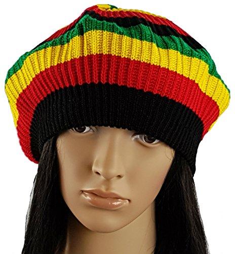 1b612cbed84 Igorbella Wide Seam Women Men s Knit Slouch Baggy Jamaican Rasta Hat ...