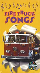 Amazon Com Real Rockin Wheels Fire Truck Songs Vhs