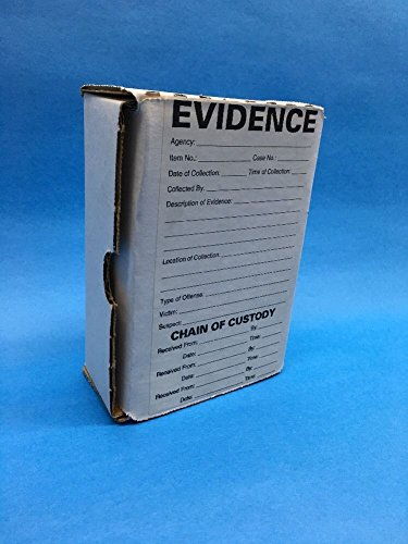 """Forensics Evidence Boxes (Lot Of 25) White Rectangle 4"""" x 6"""" from Generic"""