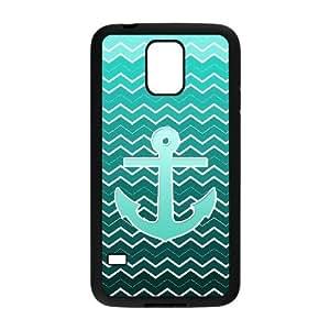 Blue Chevron Anchor Phone Case For Samsung Galaxy S5 i9600 [Pattern-1] hjbrhga1544