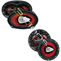 NEW BOSS CH6530 6.5 300W + 6x9 CH6920 350W Car Coaxial Speakers Audio Package