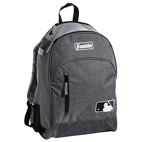 Franklin Sports MLB Batpack Bag - Perfect for Baseball, Softball, & T-Ball - Gray