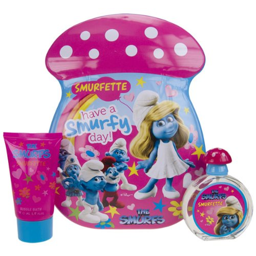 First American Brands The Smurfs Smurfette Brands Gift Set for Kids (Eau De Toilette Spray, Bubble Bath)