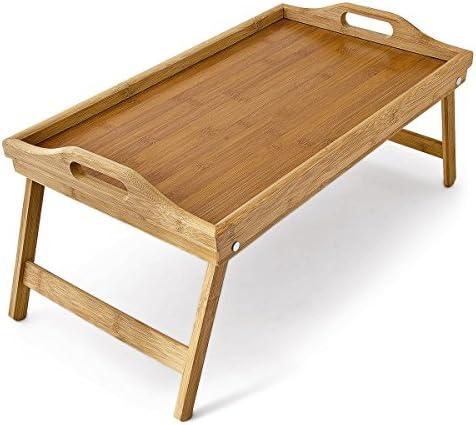 Salat Essen® Faltbar Bambus Frühstück Knietablett Holz über Bett Tisch Ständer Küche Holz NEU