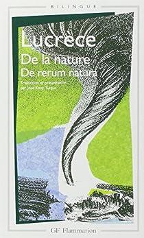 De la nature - de rerum natura par Lucrèce