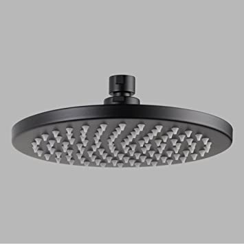 Brizo 81375 BL Odin Round Raincan Shower Head Black Faucet Trim