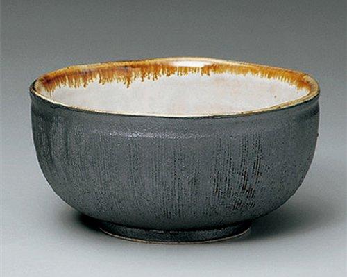 鉄黒 串目 18cm 麺鉢10点セット そば、うどん、海鮮丼などの丼碗として B00LNS24NE