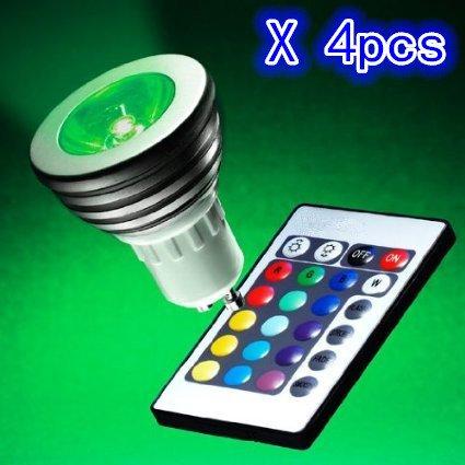 OSSUN - Bombilla LED RGB cambiante de color (16 colores, 3W, GU10,