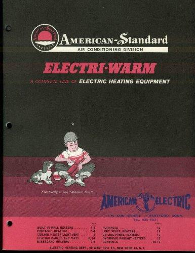 American-Standard Electri-Warm Electric Heating Equipment Catalog 1962