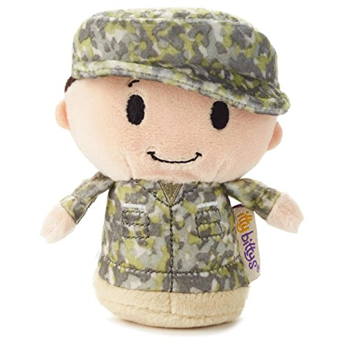 Hallmark itty bittys Green Soldier Boy Stuffed Animal Camo Itty (Green Camo Plush)