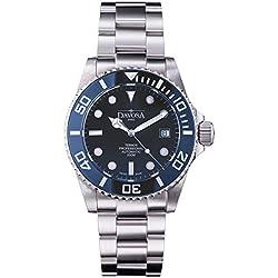 Davosa Swiss Ternos Professional 16155940 Automatic Men's Wrist Watch, Dark Blue