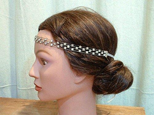 ORIGINAL Vintage 1920s Downton Abbey Crystal Headband, Art Deco Hairpiece Accessory, Great Gatsby Rhinestone Bridal Head Band, Antique Flapper Jewelry