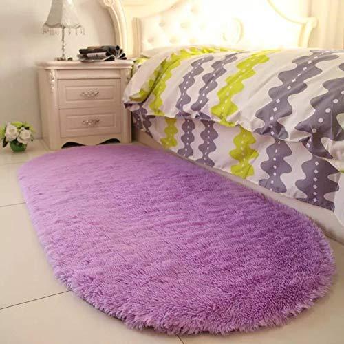 YOH Purple Area Rugs for Girls Room Soft Fluffy Rugs for Kids Bedroom Nursery Decor Mats 2.6'x5.3'
