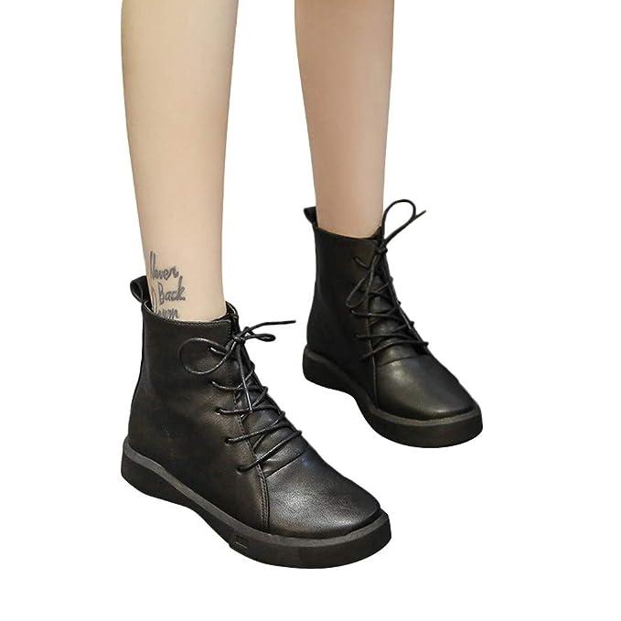7ce83d753091 Amazon.com  Faionny Womens Boots Flat Ankle Boots Christmas Shoes ...