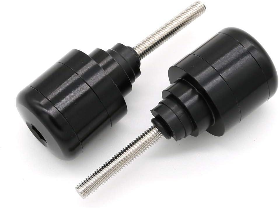 Black Xitomer Motorcycle Handlebar Bar End Plugs for HONDA CBR600F// CBR600RR// CBR 250R// CBR1100XX// GROM MSX125// CBR1000RR// VFR800