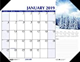 House of Doolittle 2019 Monthly Desk Pad Calendar, Earthscape, 22 x 17 inches, January - December (HOD147-19)