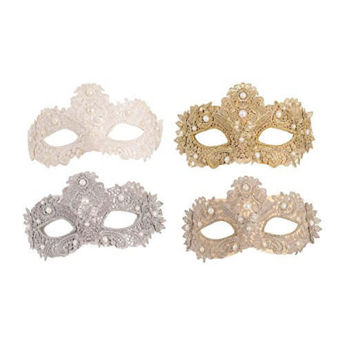 GALLERIE II Metallic Lace Hallwoeen Mask - Galleria Bath