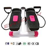 2016 Evergrow Portable Stepper Stretchable Mini Step Machine Waist Leg Buttock Exercise Calories Burning Monitor Display---PINK
