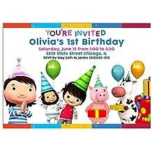 Little Baby Bum Birthday Party Invitations