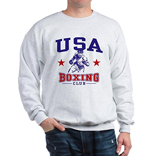 CafePress USA Boxing Sweatshirt Classic Crew Neck Sweatshirt Ash Grey