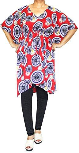 Maple Clothing - Vestido - Túnica - Manga corta - para mujer Multicoloured 1