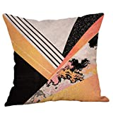 Pillowcase,Hot Sale! Hongxin Geometric Printed Cotton Linen Throw Pillow Cases Sofa Cushion Cover Home Decor (B)