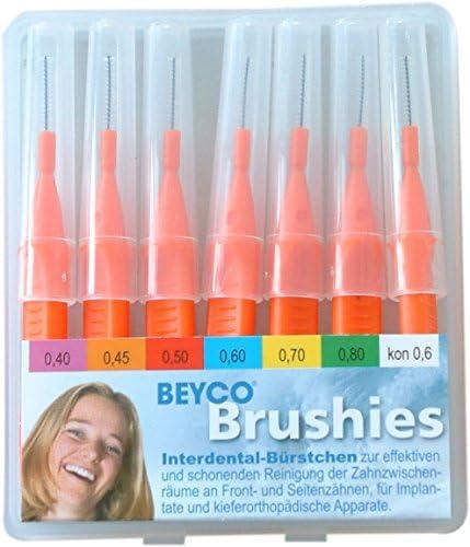 Interdentalbürsten Beycodent Brushies 0,45 orange, 7 Stück in Taschenbox