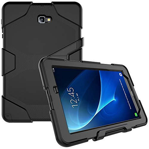 10.1 With S Pen(P585/P580) Case, Beimu 3in1 Kickstand Feature Heavy Duty Shockproof Impact Resistant Rugged Armor Defender Protection Case with Screen Protector ()