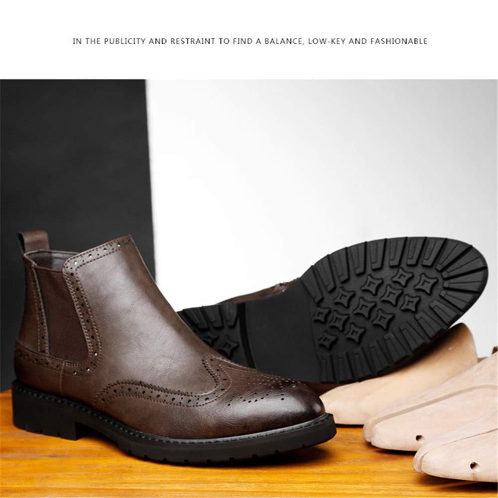 Super color Men's Zip Fashion Comfort Side Zip Men's Chelsea Boots Slip-on Work Ankle Boots Plus Velvet B07GS2J7CR Chelsea 751c71