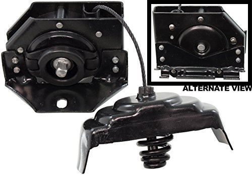 APDTY 035628 Spare Tire Wheel Hoist Hanger Crank Cable Bracket Assembly (Fits Factory Wheels Except 22 Inch; Replaces 25974845, 22968178, 10385565, 15079644)