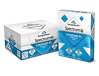 Georgia-Pacific Spectrum Standard 92 Multipurposepaper, 8.5 X 11 Inches, Pack of 2, 3000 Total Sheets (998606)