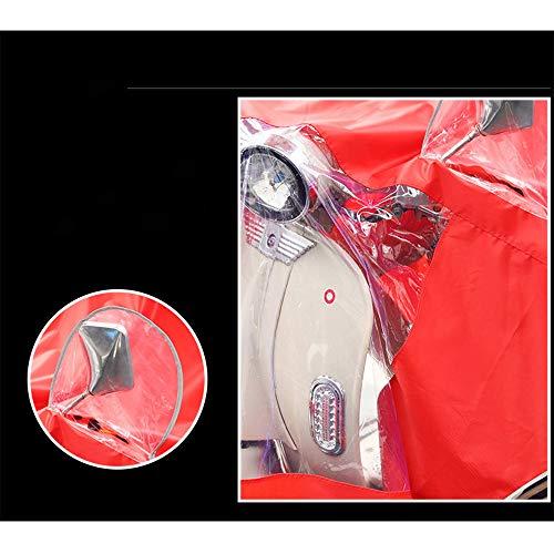 Size color Corps Crimson Batterie Poncho Femme Big Red Électrique Voiture Hommes Adulte Augmentation Épaississement Imperméable Moto Geyao Simple Équitation Xxxl OSqxAO6aw