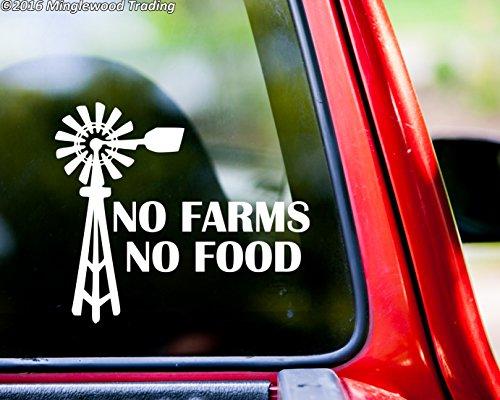 - Minglewood Trading No Farms No Food vinyl decal sticker 5