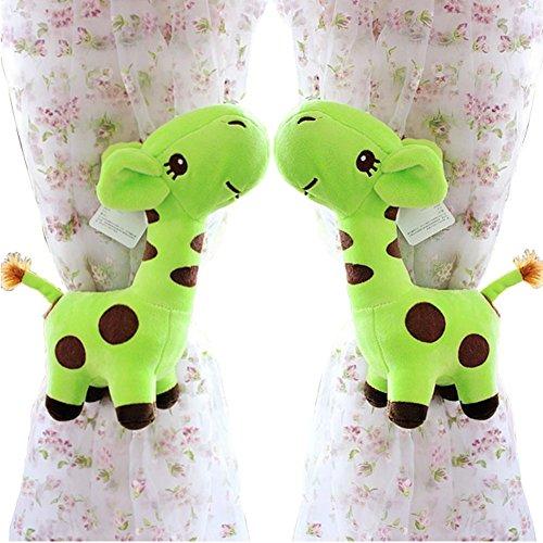 Außergewöhnlich Amazon.de: 2 Stück Niedliche Giraffen Vorhang Raffhalter / Holdback Für  Kinderzimmer, Grün
