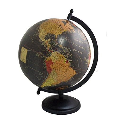 Handmade Decorative World Map Iron Stand Globe Antique Plastic Globe Home Decor 11.5