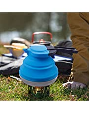 Dltsli Portable Silicone Collapsible Tea Kettle Outdoor Camping Travel Kettle Foldable