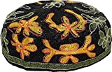 MEIZOKEN BUCHARIAN Embroidered Kippah,Black,56cm
