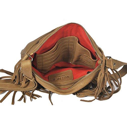 """Vilenca """"40717 Marrone"""" Signore borsa a tracolla, borsa di cuoio per le donne, Dimensioni-L28cmxH25cmxB3cm"""