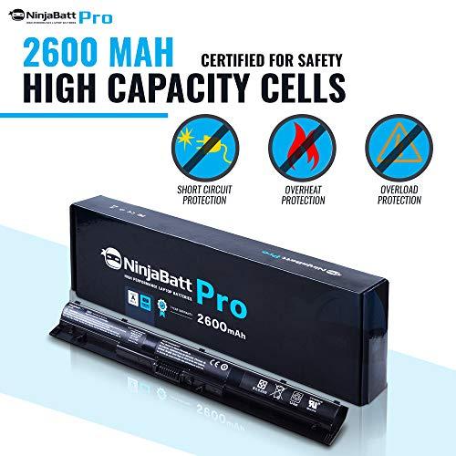 NinjaBatt Pro Battery for HP KI04 800049-001 TPN-Q160 TPN-Q158 TPN-159 TPN-Q161 TPN-Q162 HSTNN-LB6R HSTNN-DB6T HSTNN-LB6S 800010-421 – Samsung Cells [4 Cells/2600mAh/38Wh] by NinjaBatt (Image #4)