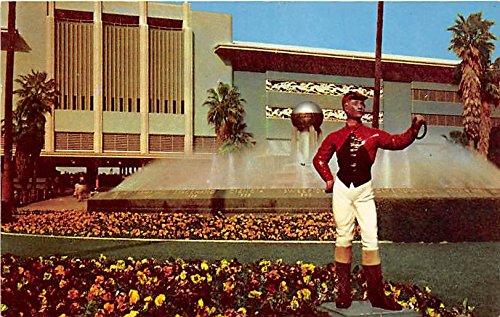Entrance to Grand Stand, Santa Anita Park Arcadia, California, CA, USA Old Vintage Horse Racing Postcard Post Card